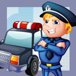 Adenture Police Runner Game-s For Small Kid-s and Learn-ing Toddler-s For School