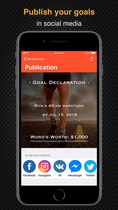 Goal Publisher - publish goals screenshot one