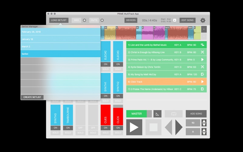 PRIME MultiTrack App por OMNISONIC MEDIA GROUP