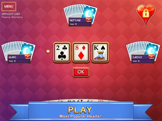 Screenshot #1 for Hearts - Classic Card Game