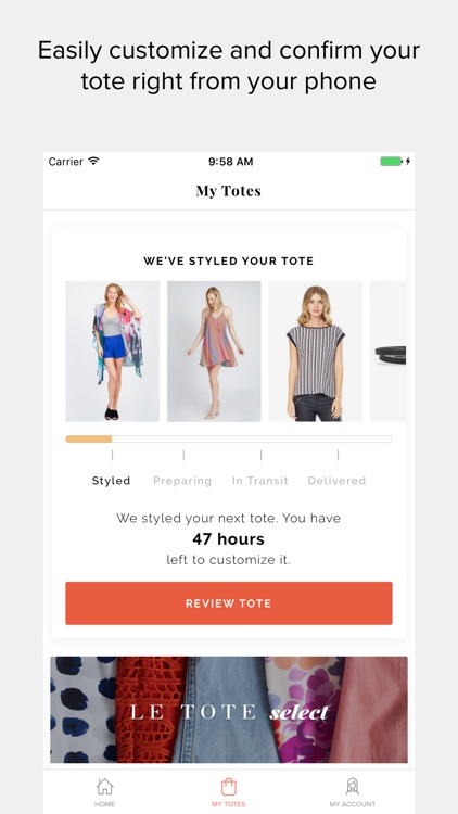 Le Tote - Fashion for Rent screenshot-0