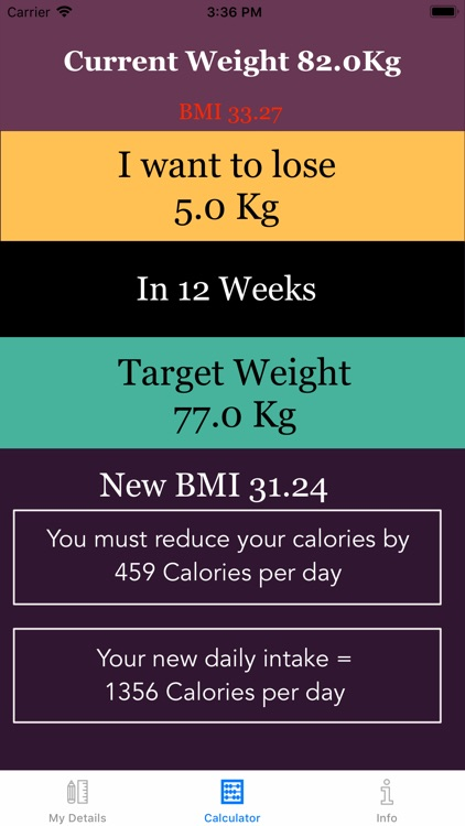 Weight Loss Calorie Calculator screenshot-1