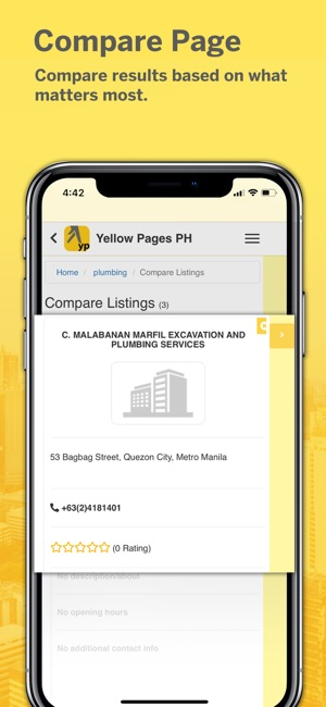 yellow page map and driving directions