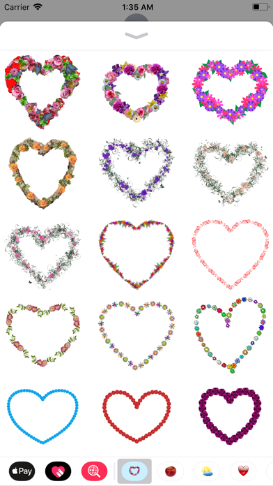 Floral Hearts Sticker Pack screenshot one