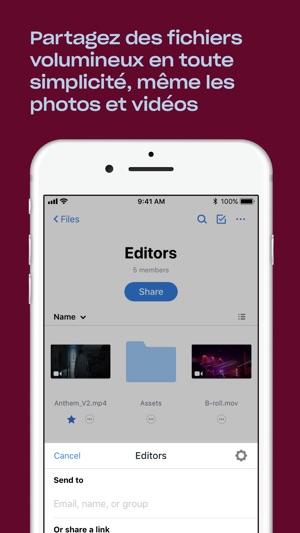 Dropbox Capture d'écran