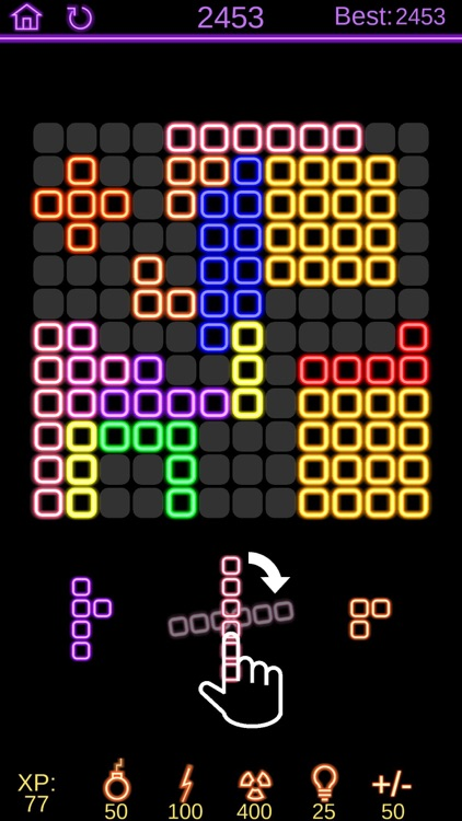 Neon Poly - Hexa Puzzle Game