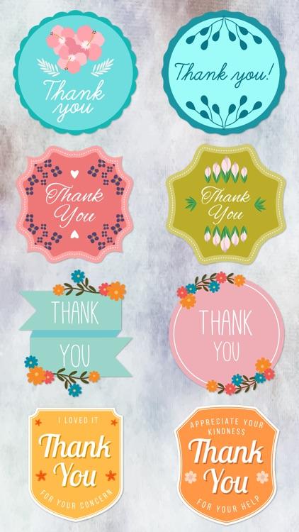 Thank You Labels Set in Minimal & Vintage Style screenshot-4