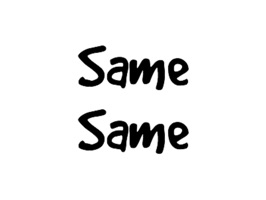 "Have some fun by sending crazy ""Same Same"" stickers to your friends"