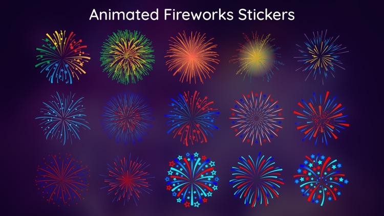 Animated Fireworks Stickers IM