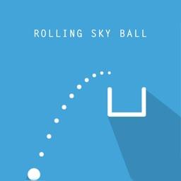 滚动白球-滚动的天空闯关游戏大作战