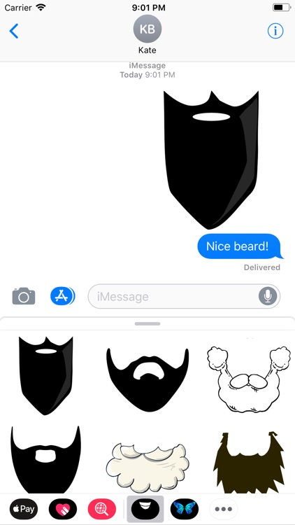 Fun-Beard-Stickers!