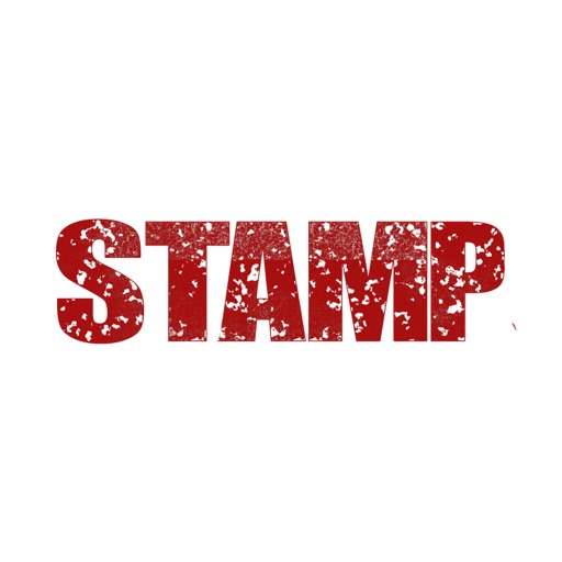 Red Rubber Stamp Stickers