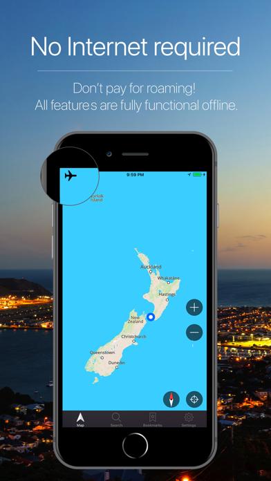 New Zealand Offline Navigation Screenshot