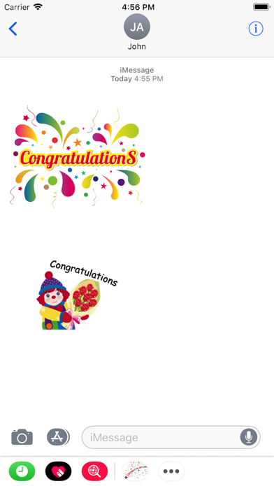 点击获取Congratulations Stickers 2018