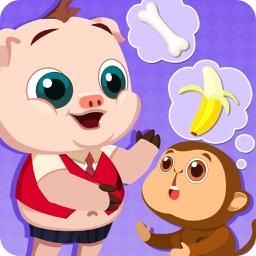 宝宝学配对-三只小猪