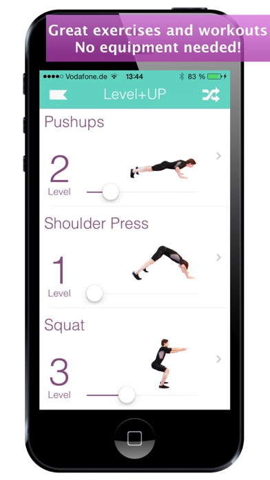 Level+Up Exercise Workout screenshot two