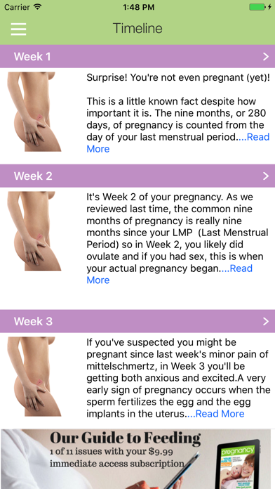 Your Pregnancy by Week screenshot three