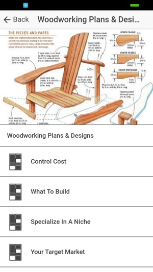 Woodworking Plan Designs On The App Store
