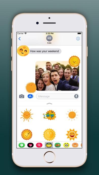 Sun Emoji Stickers Pro screenshot four
