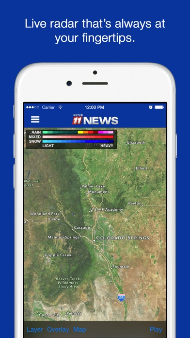 KKTV News Screenshot on iOS