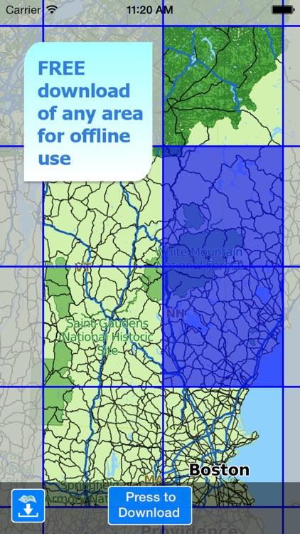 Aqua Map New Hampshire Lakes screenshot-4