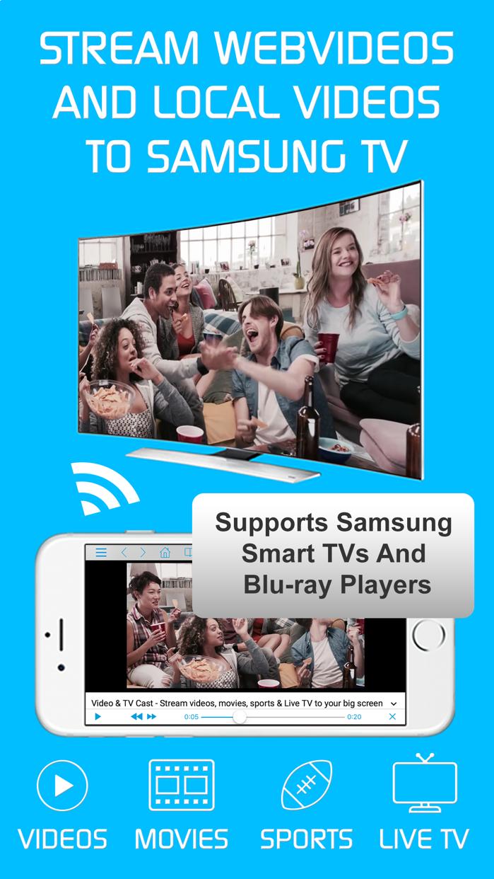 Video & TV Cast | Samsung TV Screenshot