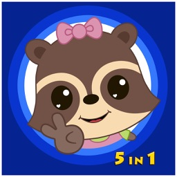 Candy Raccoon: Balloon Games for Kids