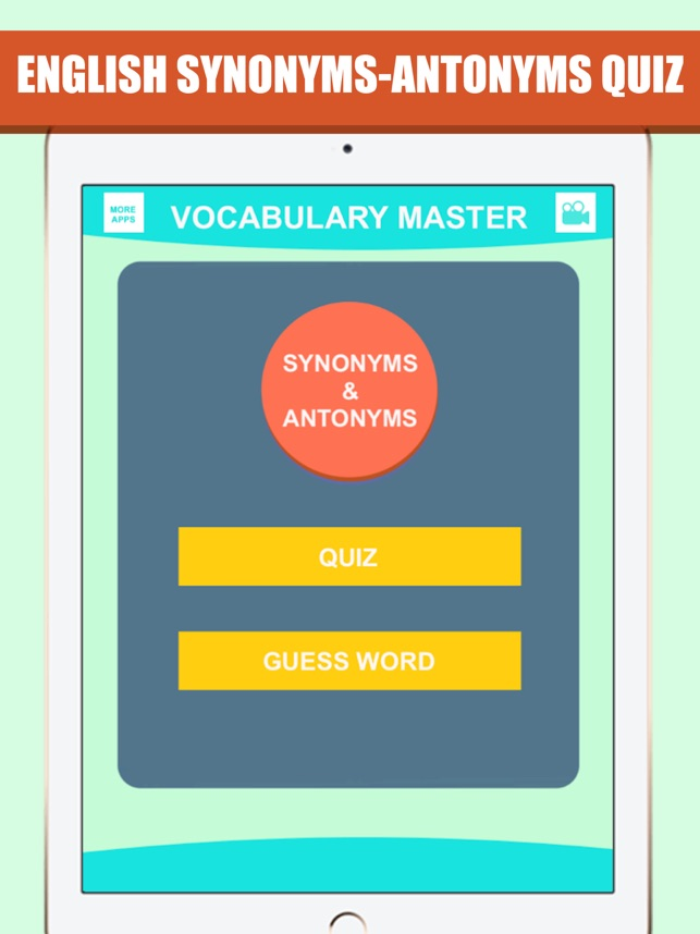 Synonyms & Antonyms Word Quiz on the App Store