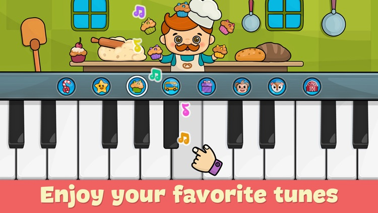 Baby piano for kids & toddlers screenshot-0