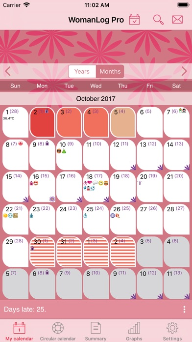 Womanlog Pro Calendar review screenshots