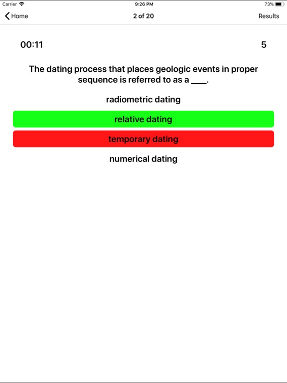 difference between relative and numerical dating