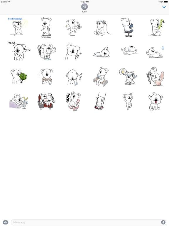 Animated Lazy Koala Stickers screenshot 3