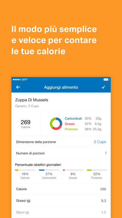 Screenshot for MyFitnessPal in Italy App Store
