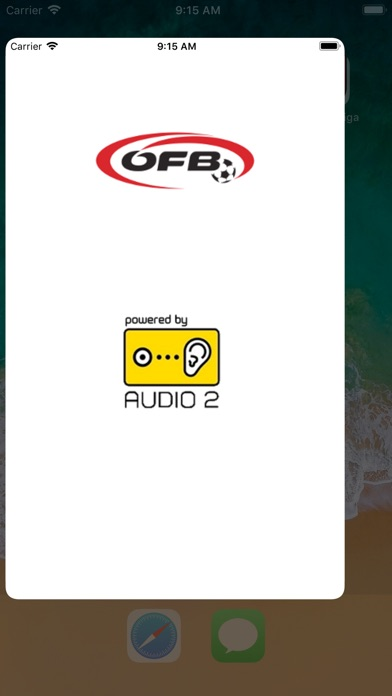 Image of ÖFB audiostream for iPhone