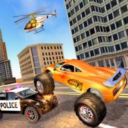 Police Chasing Monster Truck