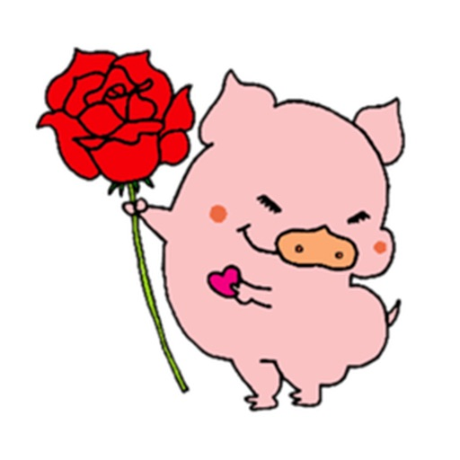 Cute Pink Piglet Sticker icon