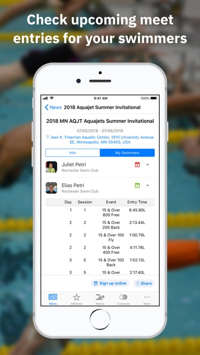 Screenshot for Swimmetry in United States App Store