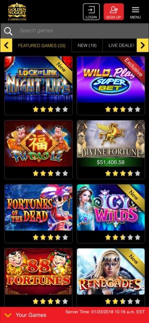 online casino app store