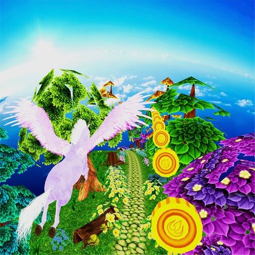 Unicorn Dash Fly Pegasus 3D HD iOS App
