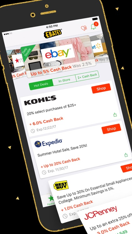 Ebates: Cash Back & Shopping