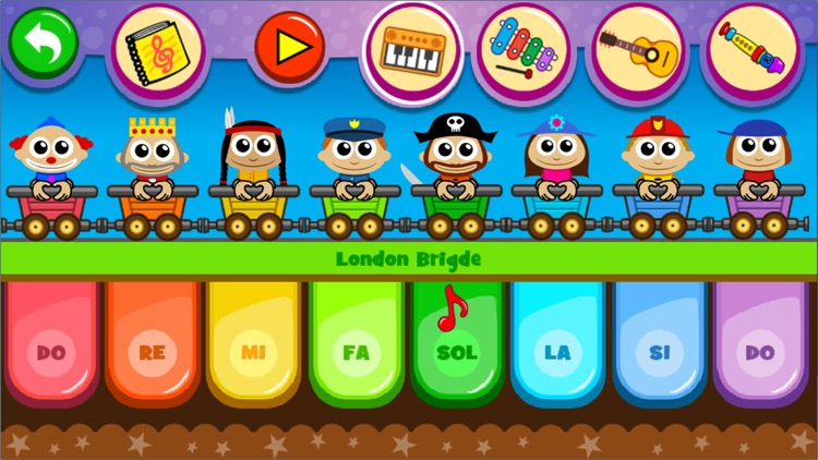 儿童游戏 - 小天才早教弹钢琴音乐游戏