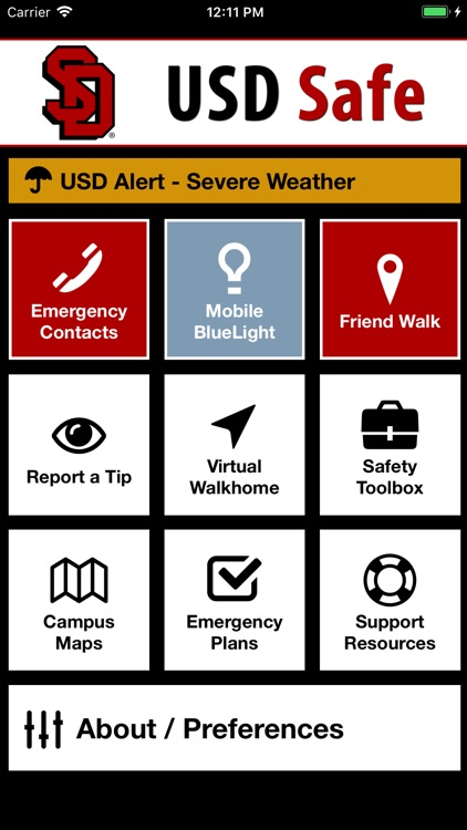 Usd Vermillion Campus Map.Usd Safe By The University Of South Dakota