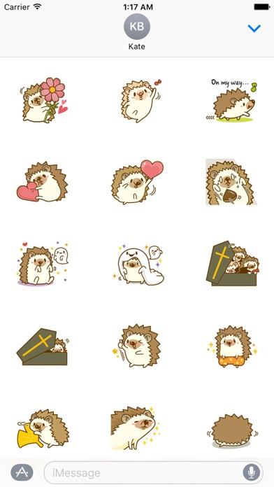 Hedgehog In Autumn Sticker screenshot 2