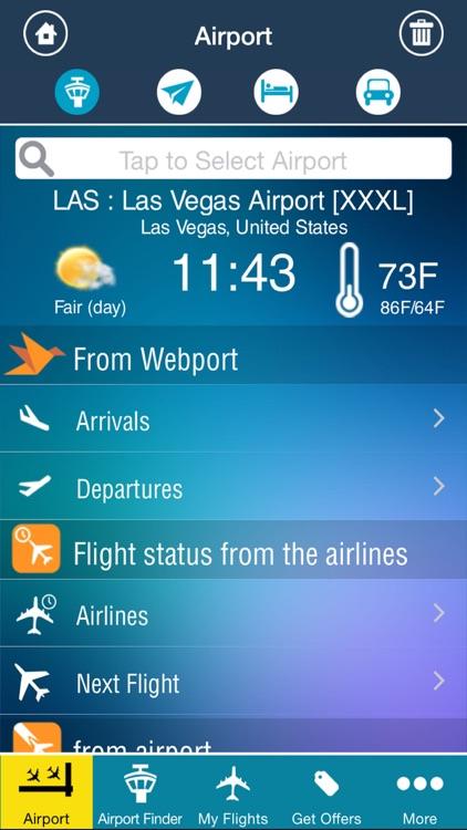 Airport (all) + flight tracker