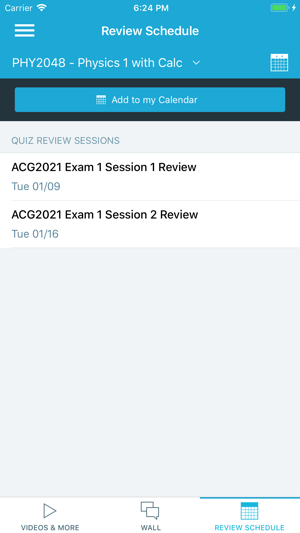 study edge schedule