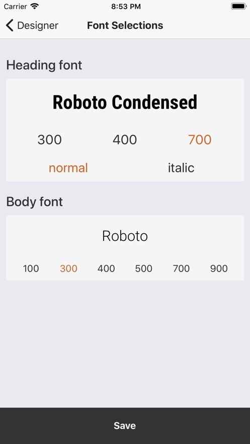 Modern Web Designer App 截图