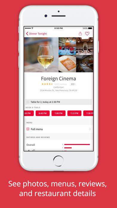 Screenshot 2 for OpenTable's iPhone app'