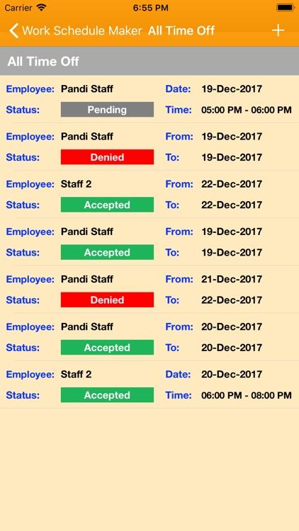 Work Schedule Maker screenshot-4