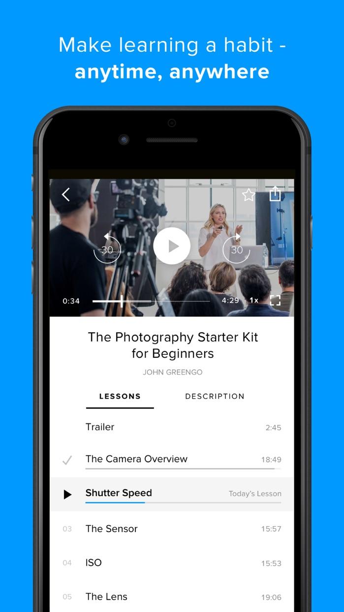 CreativeLive: learn photography, design, creative Screenshot