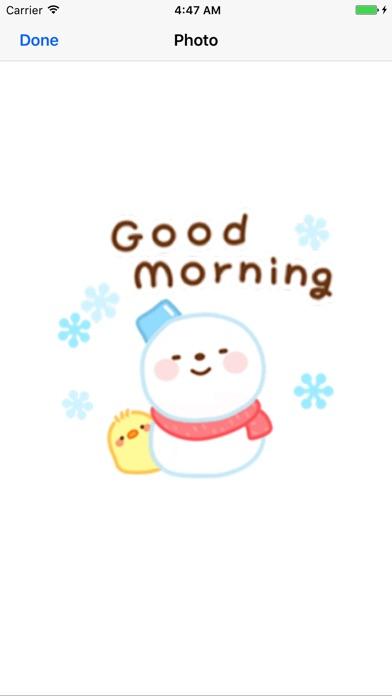 Cute Snowman Emoji Sticker screenshot 1